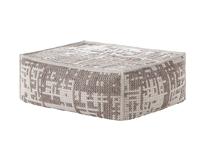Upholstered wool pouf CANEVAS | Pouf soft - GAN By Gandia Blasco