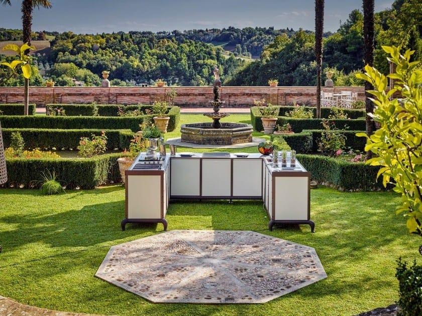 Cucina da esterno elettrica a gas con barbecue cucina da - Cucina da esterno con barbecue ...