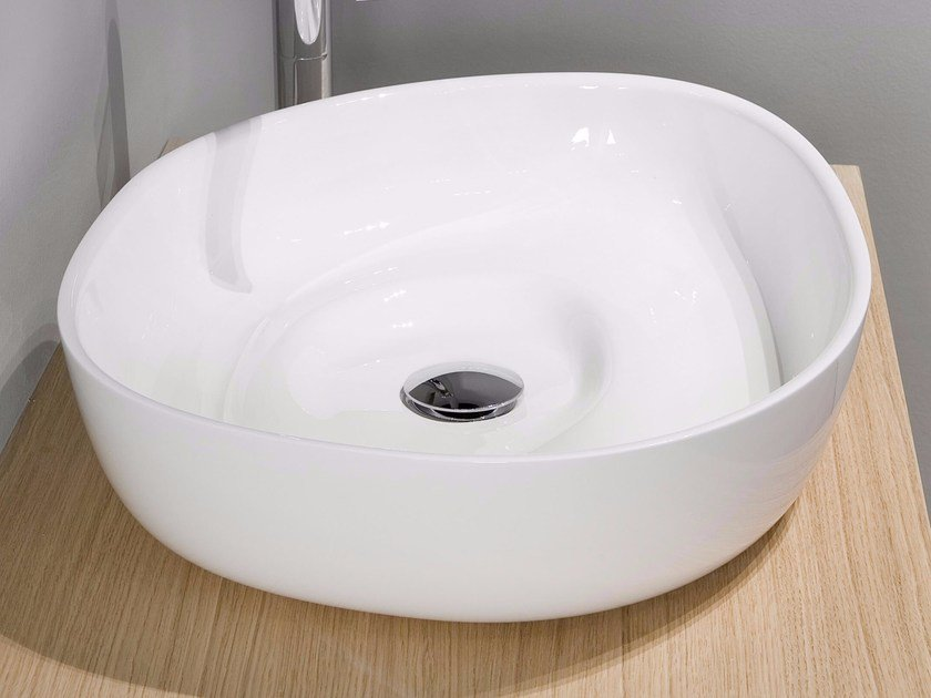 Countertop Ceramilux® washbasin CANYON by Antonio Lupi Design