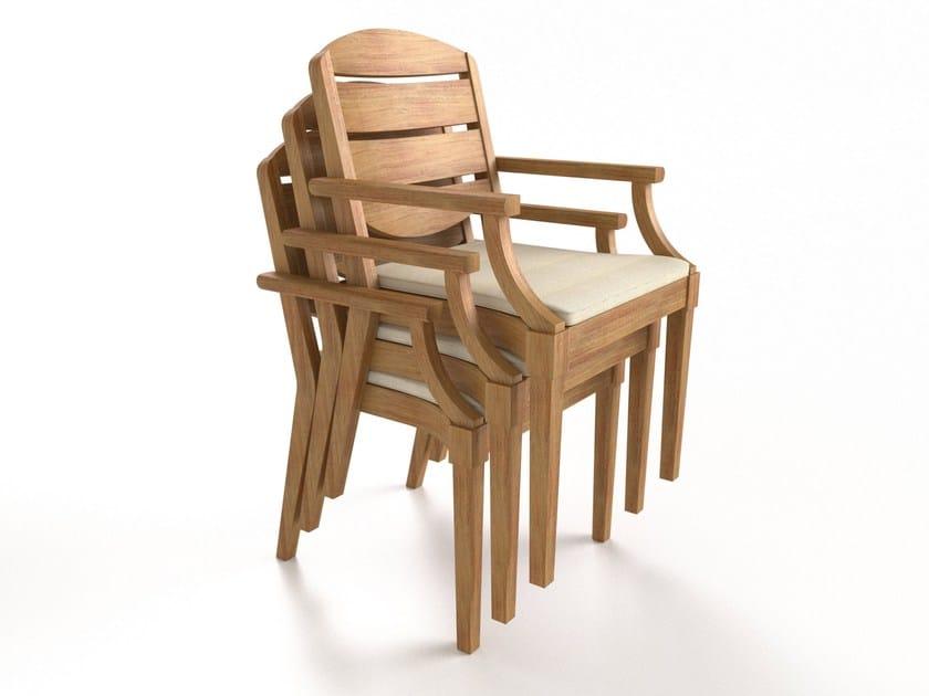 Foam chair with armrests CAP FERRET | Chair with armrests - Sérénité Luxury Monaco