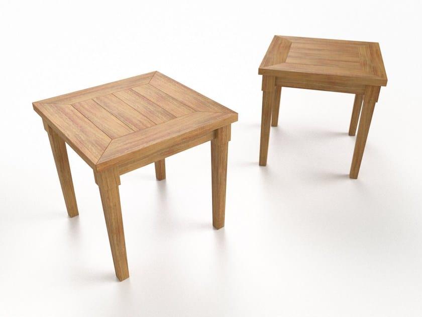 Tavolino quadrato in teak CAP FERRET | Tavolino quadrato - Sérénité Luxury Monaco