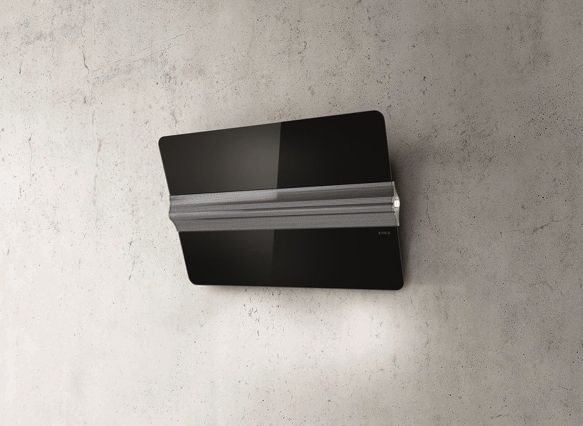 Wall-mounted Glass and Stainless Steel cooker hood CAPITOL - Elica