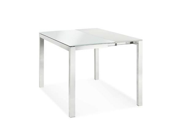 Extending rectangular glass table CAPOTAVOLA - CREO Kitchens by Lube