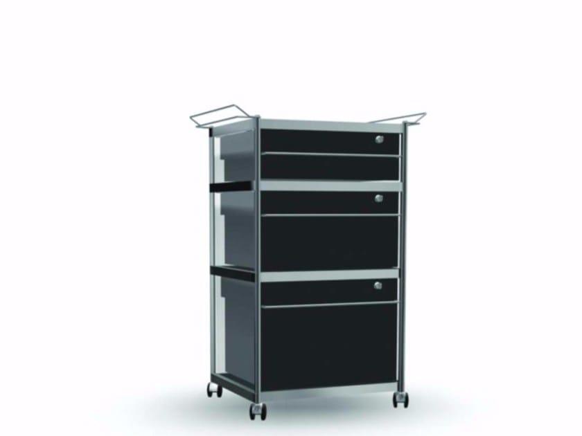Methacrylate office drawer unit / Trolley CAR003 - SEC_car003 - Alias