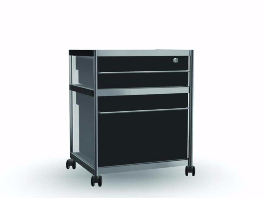 Methacrylate office drawer unit with lock CAR017 - SEC_car017 - Alias