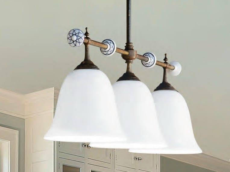 Glass pendant lamp CARACOI | Glass pendant lamp - Aldo Bernardi