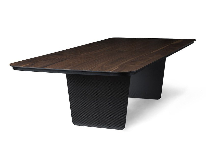 Rectangular table CARBON CLARO by Tokio