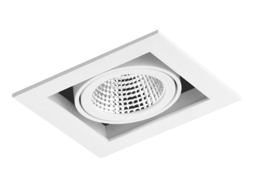 LED square recessed aluminium spotlight CARDAN 1x33W by LED BCN