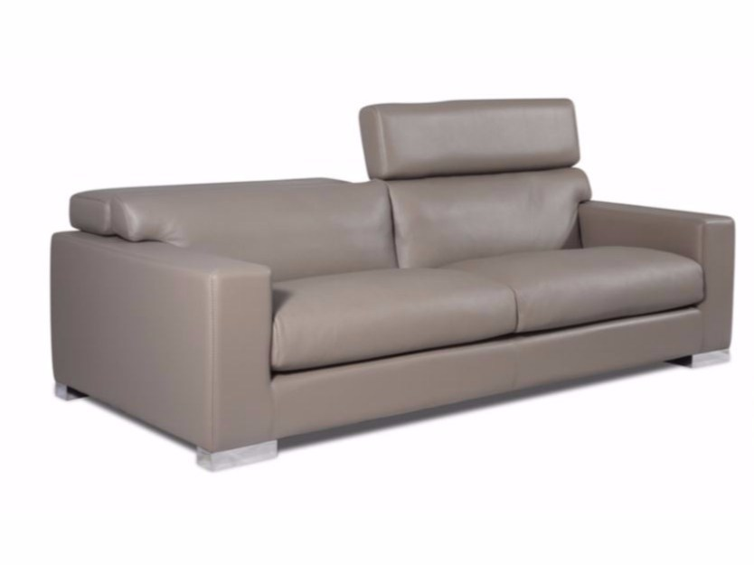 3 seater leather sofa with headrest CARGESE - Canapés Duvivier
