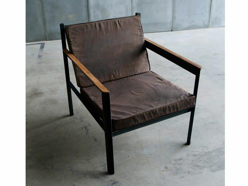 Fabric armchair with armrests CARGO | Fabric armchair - Heerenhuis
