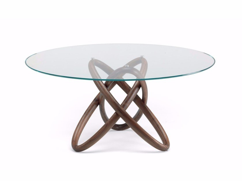 Round crystal table CARIOCA by Cattelan Italia