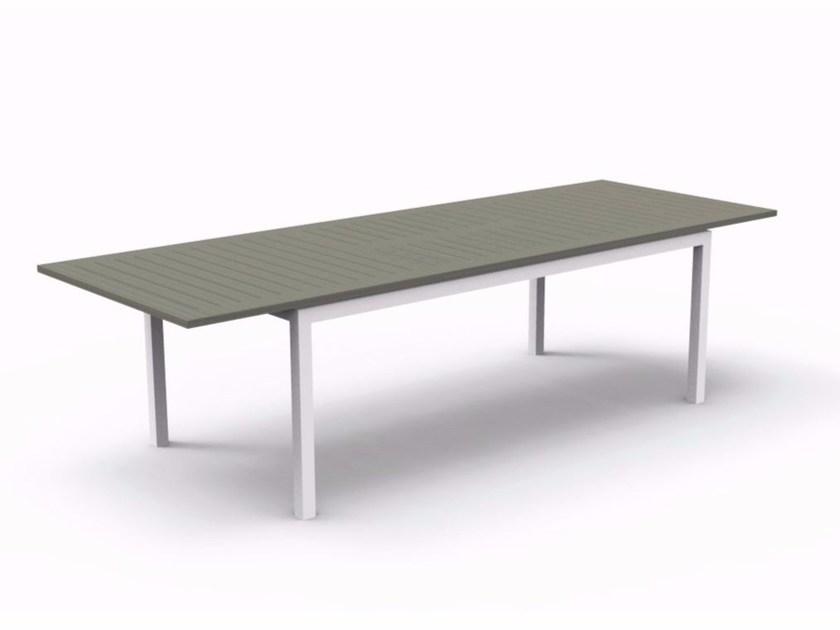 Extending rectangular Polywood® garden table CARLOS | Garden table - Talenti