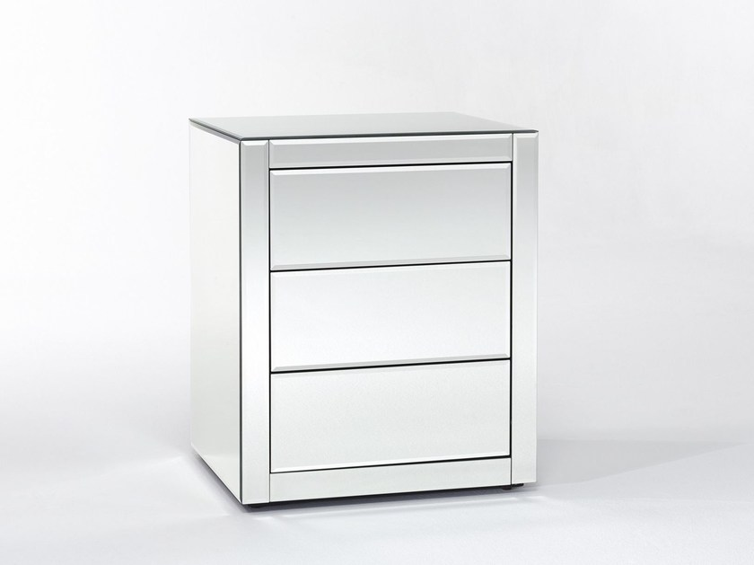 Rectangular bedside table with drawers CARO - DEKNUDT MIRRORS