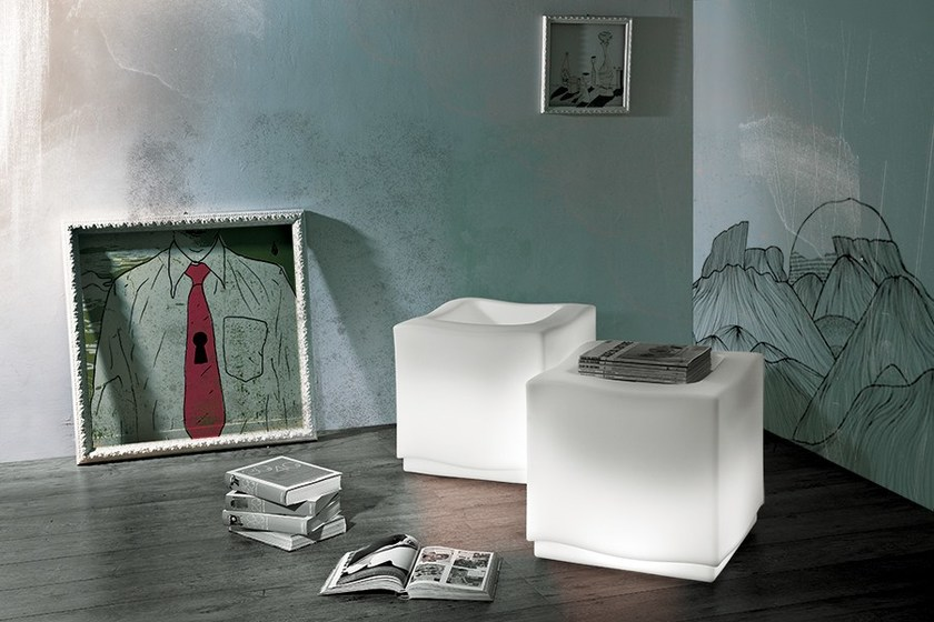 High polyethylene vase with Light CARRE | Vase with Light - TWENTYFIRST LIVINGART by Elbi S.P.A.