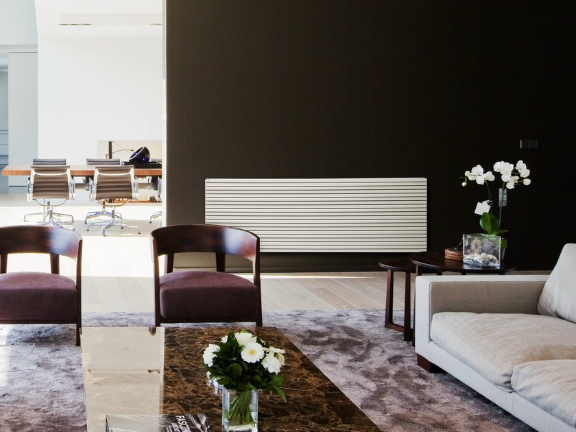 Horizontal wall-mounted steel radiator CARRE' PLUS | Horizontal radiator by VASCO