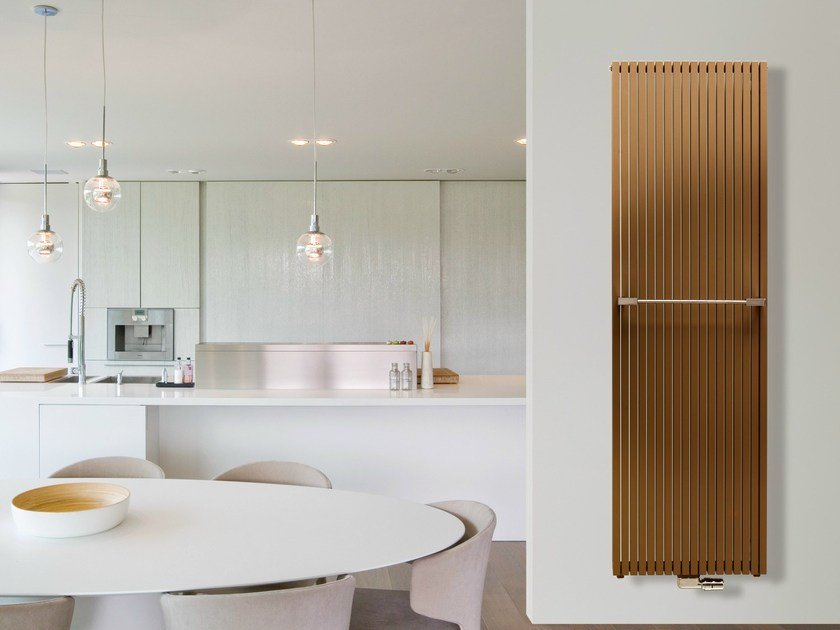 Vertical wall-mounted steel radiator CARRE' PLUS | Vertical radiator - VASCO