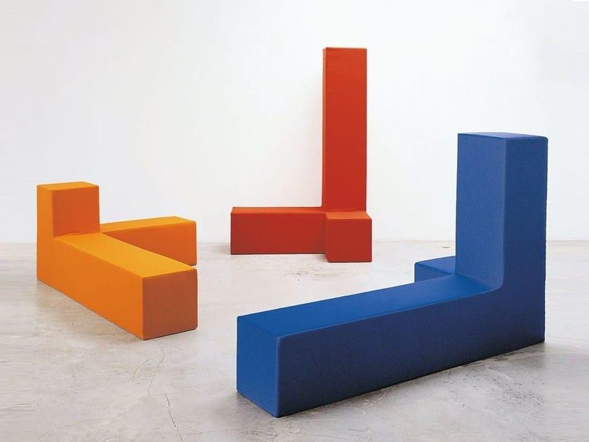 Sectional polyurethane sofa with removable cover CARTESIANO - ALIVAR