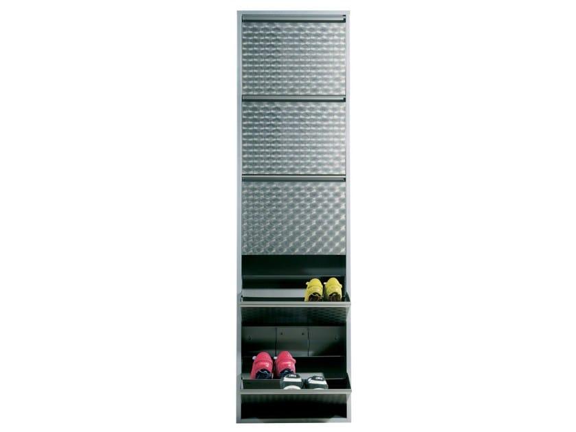 Steel shoe cabinet CARUSO SILVER - KARE-DESIGN