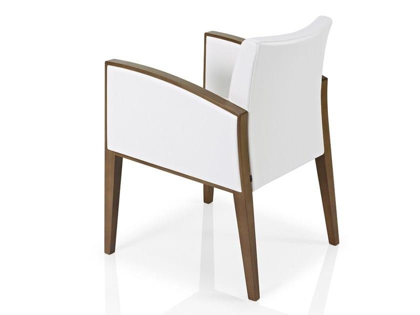 Fabric restaurant chair with armrests CASSIS   Chair with armrests - J. MOREIRA DA SILVA & FILHOS, SA