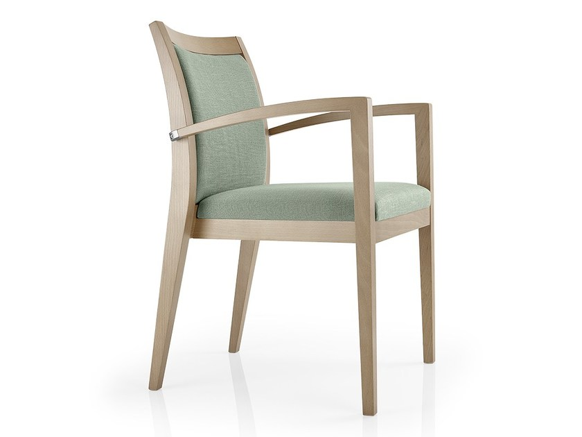 Stackable leather chair with armrests CASSIS   Chair with armrests - J. MOREIRA DA SILVA & FILHOS, SA