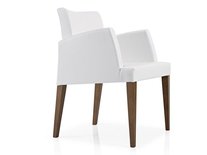 Fabric restaurant chair with armrests CASSIS | Chair with armrests - J. MOREIRA DA SILVA & FILHOS, SA