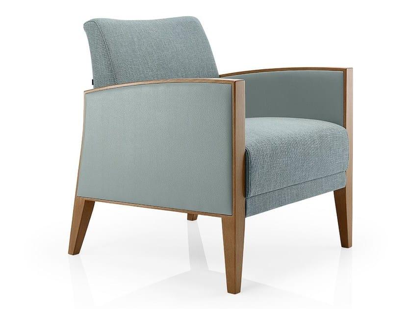 Fabric easy chair with armrests CASSIS | Easy chair - J. MOREIRA DA SILVA & FILHOS, SA