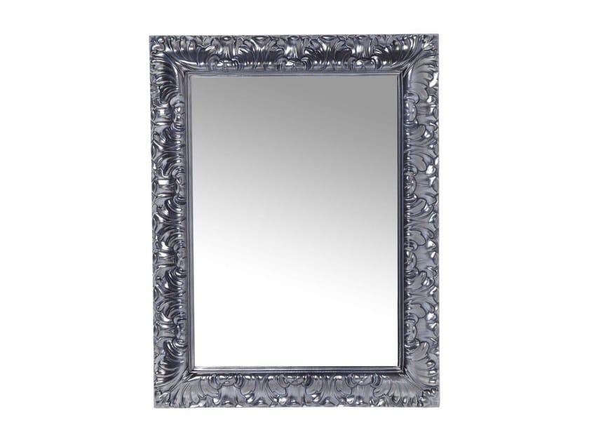 Rectangular wall-mounted framed mirror CASTELLO CHROME - KARE-DESIGN