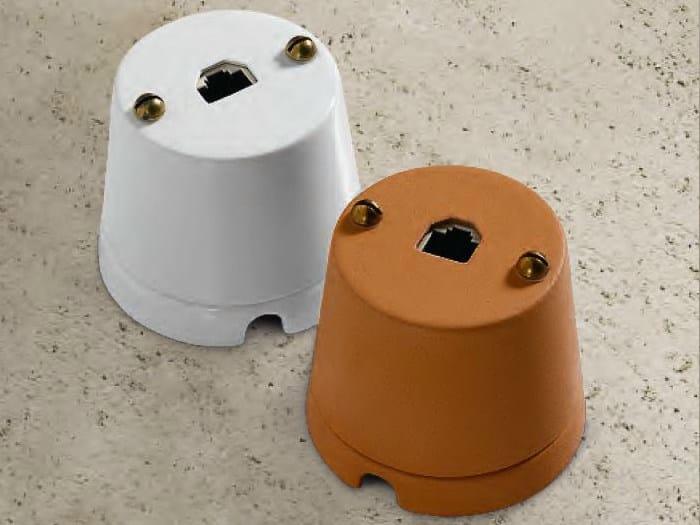 Ceramic electrical outlet CASTORE | Internet socket by Aldo Bernardi