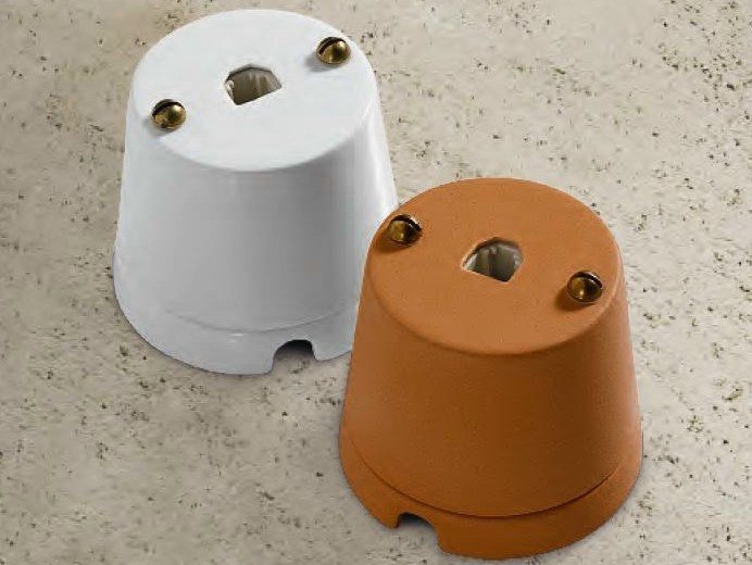 Single ceramic electrical outlet CASTORE | Telephone socket by Aldo Bernardi