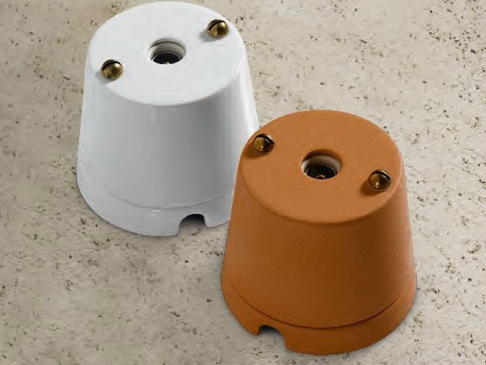 Single ceramic electrical outlet CASTORE | Coaxial socket - Aldo Bernardi