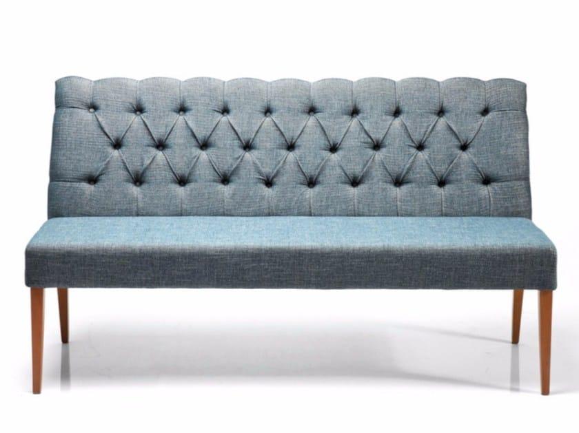 Fabric small sofa CASUAL RHYTHM TEAL - KARE-DESIGN