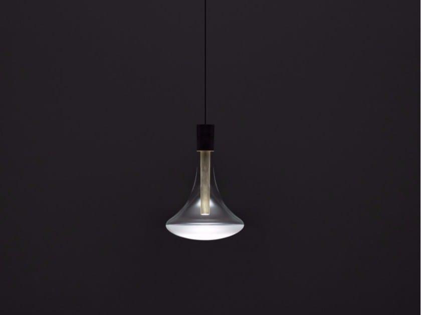 LED glass and metal pendant lamp CATHODE by DAVIDE GROPPI
