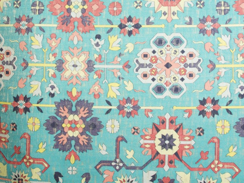 Viscose fabric with floral pattern for curtains CATIFA - Gancedo