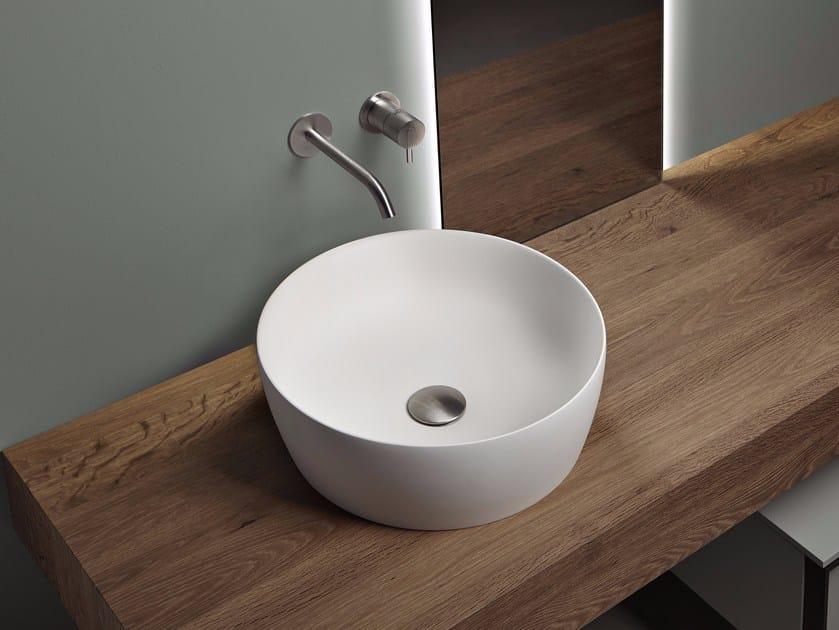 Lavabo da appoggio rotondo in Flumood® CATINO - Antonio Lupi Design