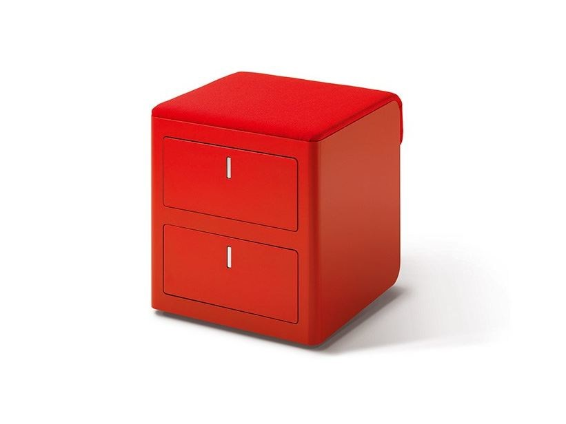 Metal office drawer unit with lock CBOX - Dieffebi