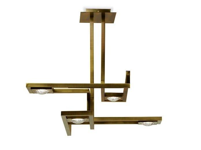 LED direct light brass pendant lamp CECILE | Brass pendant lamp - MARIONI