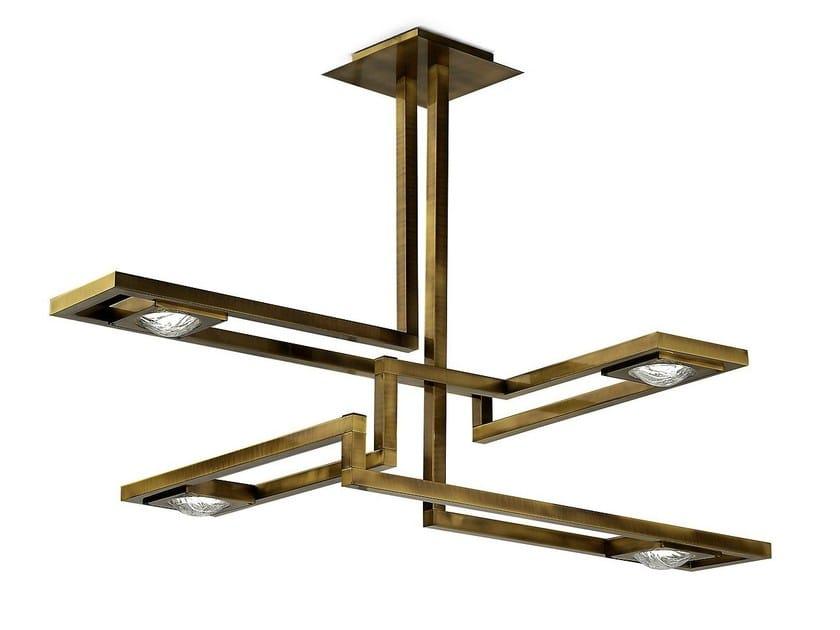 LED brass pendant lamp CECILE | Pendant lamp - MARIONI