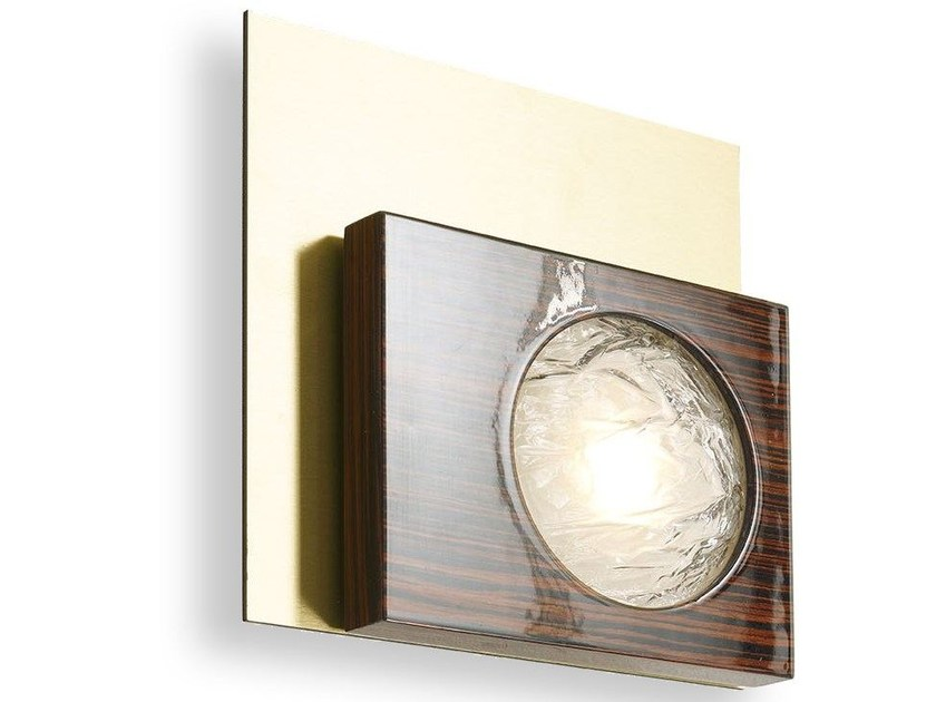 LED wooden wall light CECILE   Wall light by MARIONI