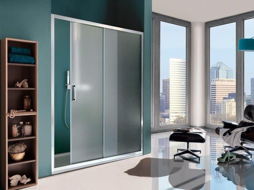 Box doccia a due posti in vetro temperato con porte scorrevoli CEE ART | Box doccia a nicchia by Samo