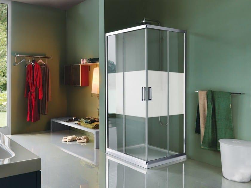 Box doccia rettangolare in vetro temperato con porte scorrevoli CEE ART   Box doccia con porte scorrevoli by Samo
