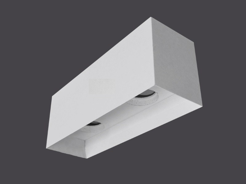 Ceiling light fixtures in Plasterboard SINGLE CEILING LIGHT FIXTURES 135° - Gyps