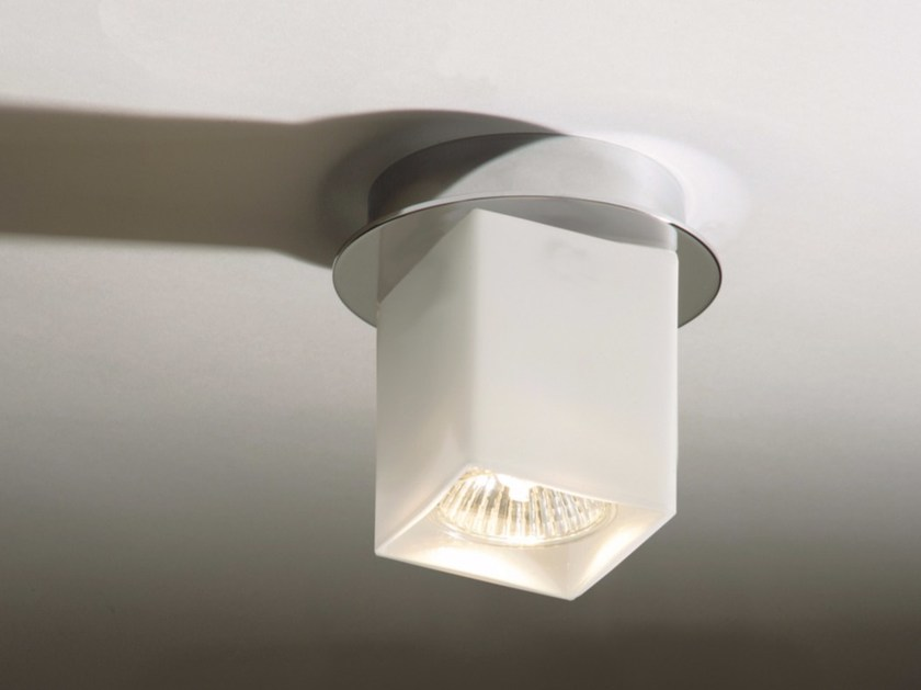 Halogen glass ceiling lamp CEILING QUADRO by Top Light