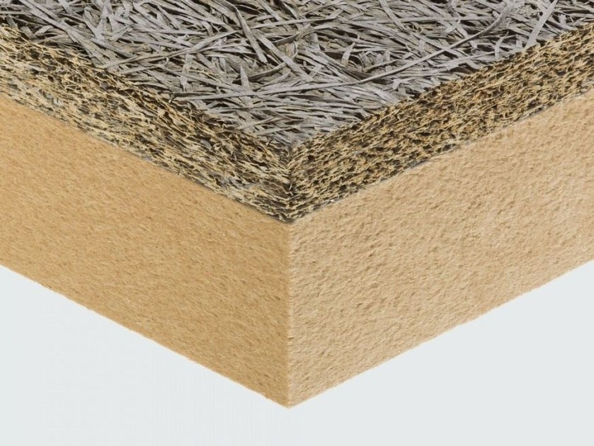 Natural insulating felt and panel for sustainable building CELENIT F2 by celenit