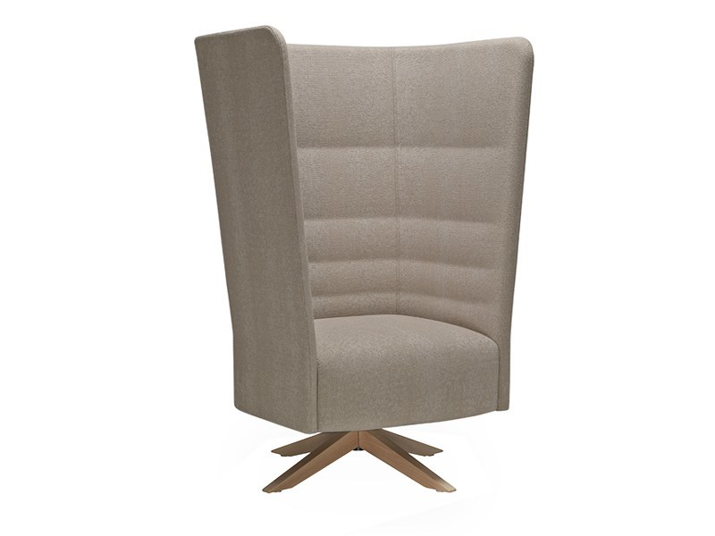 Swivel high-back armchair with 4-spoke base CELL 128 | High-back armchair - SitLand