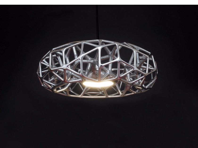 Aluminium pendant lamp CELL - Quasar