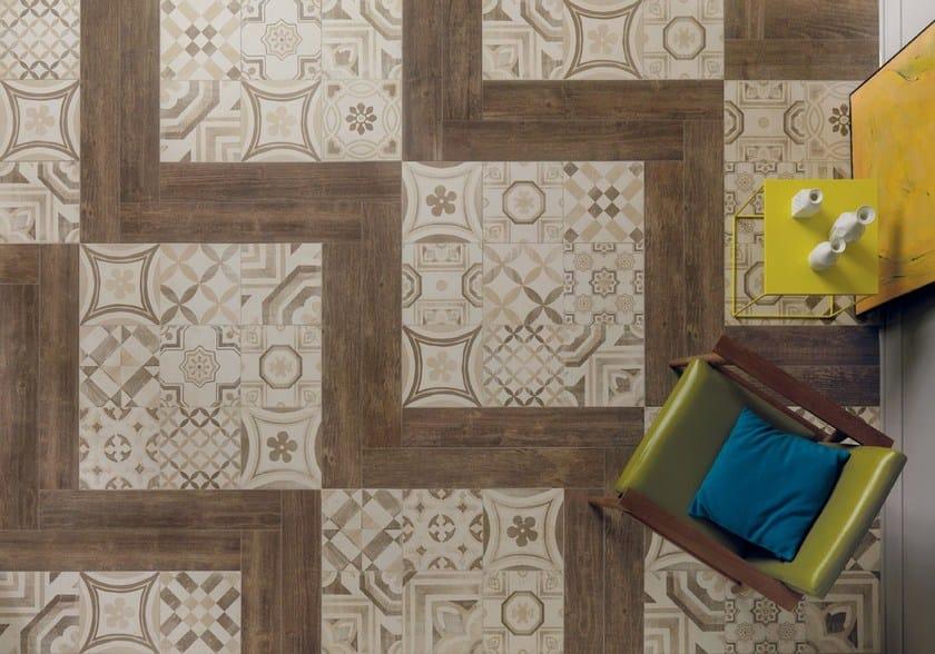 Pavimento/rivestimento in gres porcellanato CEMENTINE WARM by ...