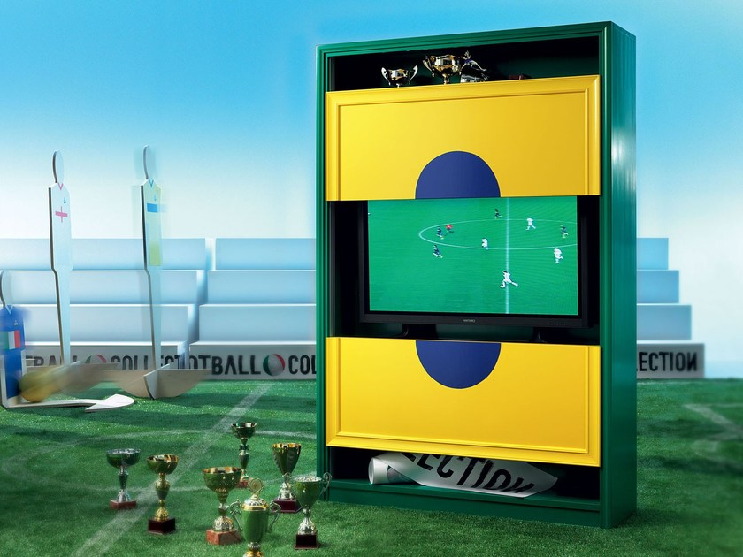 Bespoke TV-stand and bookcase bespoke design - Football Collection - Modenese Gastone