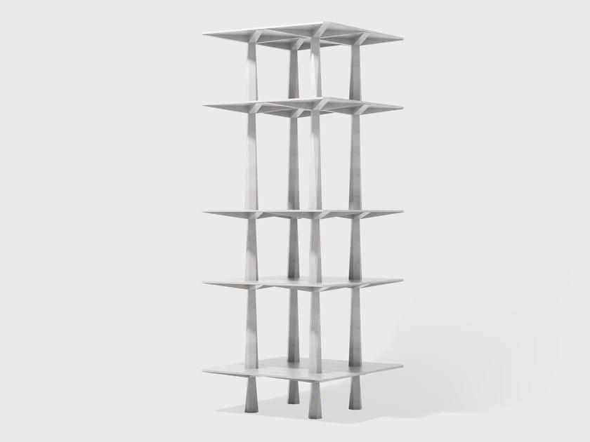 Open aluminium bookcase CENTINA by Matter Made