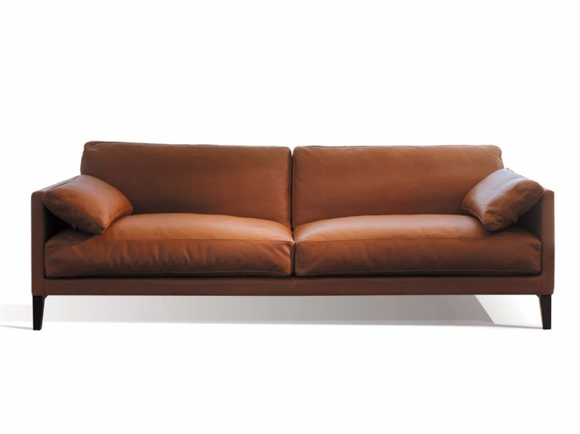 Upholstered 3 seater leather sofa CENTQUATRE | 3 seater sofa - Canapés Duvivier