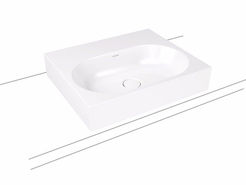 Countertop rectangular enamelled steel washbasin CENTRO | Countertop washbasin - Kaldewei Italia